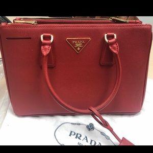Prada luxury saffiano leather tote